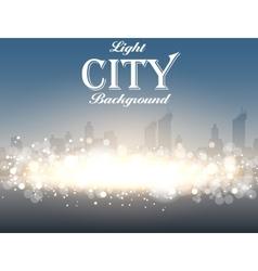 Light City Background vector image