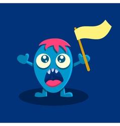Screaming cartoon character vector image vector image