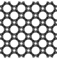 Seamless Black White Chain Pattern vector image vector image