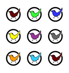 set check mark icons multicolor vector image