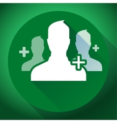 Teamwork association of green people icon Flat vector image