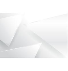 triangle white backgroundgrayblack vector image