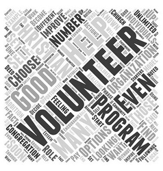 What Volunteering with a Christian Organization or vector image vector image