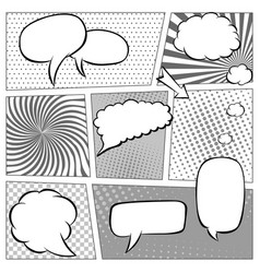 comic book page template with halftone effect and vector image vector image