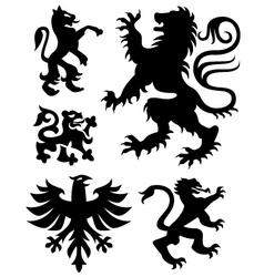 eagle crest sign vector image