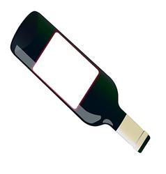 open bottle vector image