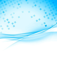Tile cell modern abstract blue hi-tech background vector image vector image