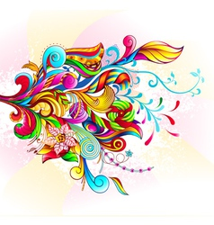 Abstract Bouquet vector image