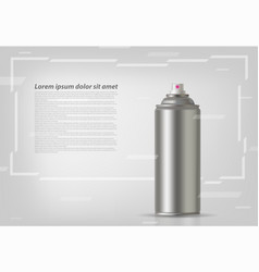 aerosol spray on grey background with abstract vector image