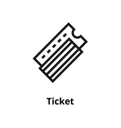 airport ticket line icon vector image