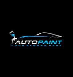 Auto paint logo template vector