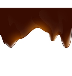 Background of liquid chocolate vector image