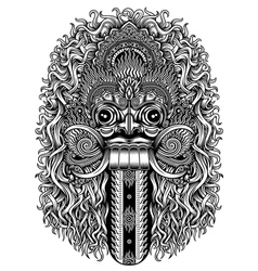 Balinese Demon Mask vector