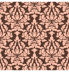 Beige and brown seamless floral pattern vector image