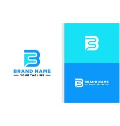Bf monogram logo bold editable vector