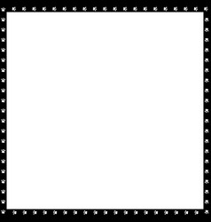 black and white square frame made of animal paw vector image