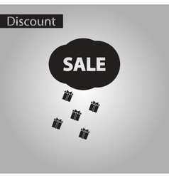 black and white style icon sale gift rain vector image