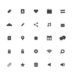 Black Website Icons Set vector image