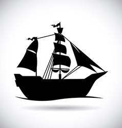 Boat design vector