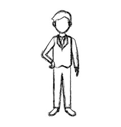 Businessman in suit clothes standing character vector