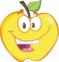 Cartoon apple design vector