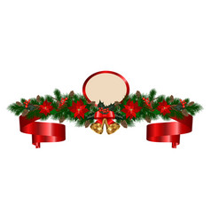 christmas garland with bells vector image