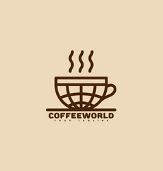 coffee world logo vector image