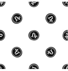 coin drachma pattern seamless black vector image