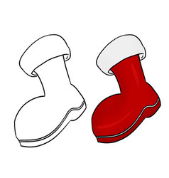 Colored hand drawn christmas boots isolated vector