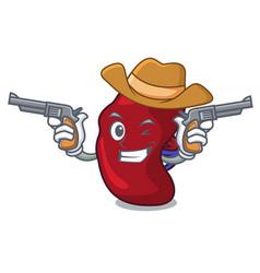 cowboy spleen character cartoon style vector image