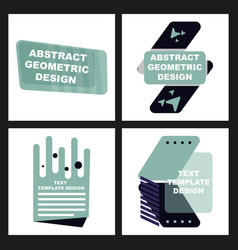 Creative abstract geometric background vector