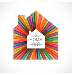 creative house decoration icon vector image