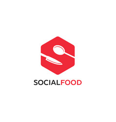 creative letter s logo designs food infinity vector image