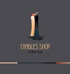 Creative logo for candles shop vector