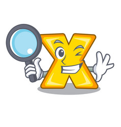Detective cartoon multiply of a delete sign vector