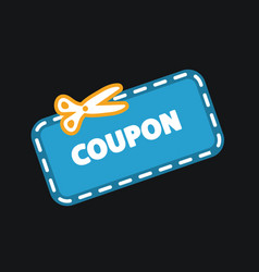 Discount coupon icon vector