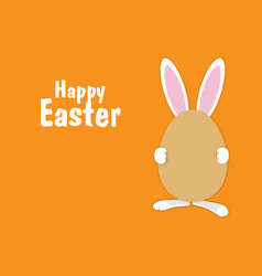 easter rabbit with egg easter bunny with egg vector image