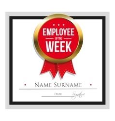 Employee week certificate template vector