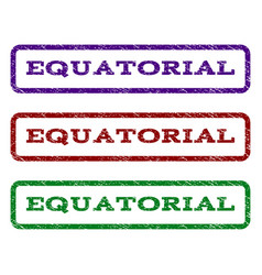 Equatorial watermark stamp vector