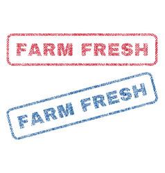 Farm fresh textile stamps vector