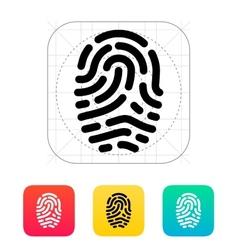 Fingerprint scanner icon vector image