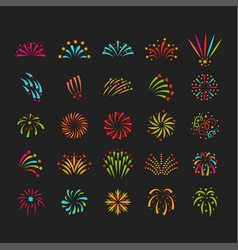 Firework celebration holiday vector