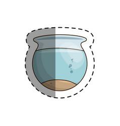 fish aquarium pet isolated icon vector image