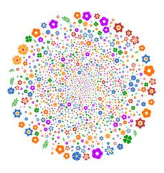 flower fireworks sphere vector image