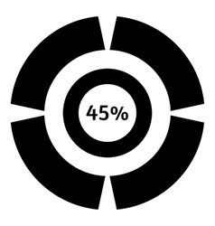 Forty five percent download icon simple style vector