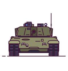 Front view of main battle tank vector