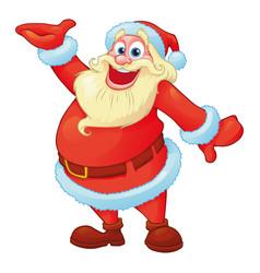 funny santa in cartoon style vector image