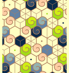 geometric abstract seamless pattern linear motif vector image