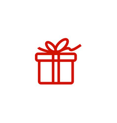 Gift box icon template vector