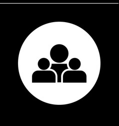 Group people icon template design vector